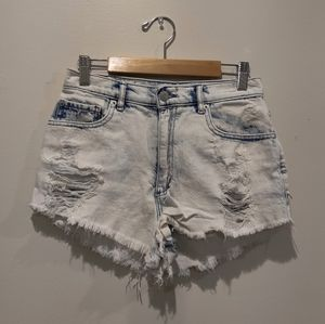 EUC Garage Light Wash Distressed Shorts, size 1